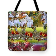 Central Michigan Football Collage Tote Bag