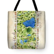 Central Park And All That Surrounds It Tote Bag