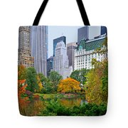 Central Park And Fifth Autumn View Tote Bag