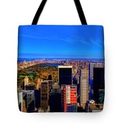 Central Park And New York City In Autumn Tote Bag