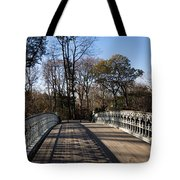 Central Park Bridge Shadows Tote Bag