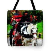 Central Park Carriage Tote Bag