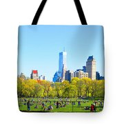 Central Park Panoramic View Tote Bag