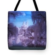 Central Park Lake Willows Color Tote Bag