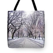 Central Park Mall In Winter Tote Bag