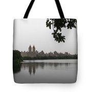 Central Park Reservoir With Reflection Nyc Tote Bag