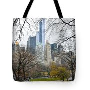 Central Park South Buildings From Central Park Tote Bag