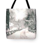 Central Park Winter Landscape Tote Bag