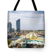 Central Phnom Penh In Cambodia Tote Bag