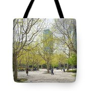 Central Shanghai Park In China Tote Bag