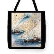Centurion Trawl Fishing Boat Nautical Chart Art Tote Bag