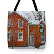 Century Home In Winter 3 Tote Bag