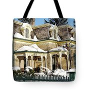 Century Home In Winter Tote Bag