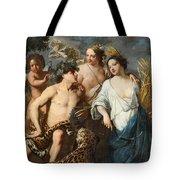Ceres Bacchus And Venus Tote Bag