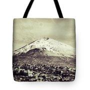 Cerro Rico Potosi Black And White Vintage Tote Bag
