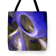 Cerulean Abstract Tote Bag