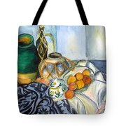 Cezanne Still Life With Apples In Watercolor Tote Bag