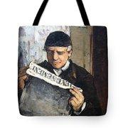Cezanne's Father Reading Le Evenement Tote Bag