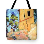 Cezanne's House With Cracked Walls Tote Bag