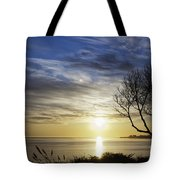 cf 519 A Sunset Over Monterey Bay Tote Bag
