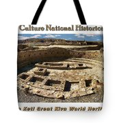 Chaco Culture National Historic Park Poster Tote Bag