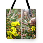 Chafer Beetle On Medusa Succulent In 3d Stereo Tote Bag