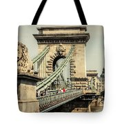 Chain Bridge Crossing The Danube River Tote Bag