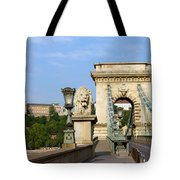 Chain Bridge In Budapest Tote Bag