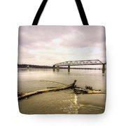 Chain Of Rocks Bridge  Tote Bag