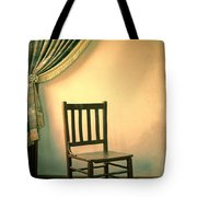 Chair And Curtain Tote Bag