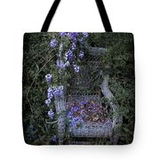 Chair And Flowers Tote Bag