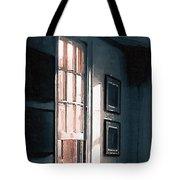 Chair In A Blue Corner Tote Bag