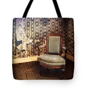 Chair In Abandoned Room Tote Bag