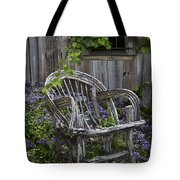 Chair In The Garden Tote Bag