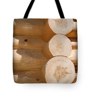 Chalet Logs Tote Bag
