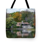 Chalet On The Lagoon Tote Bag