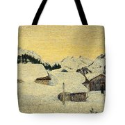 Chalets In Snow Tote Bag