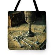 Chalice And Keys Tote Bag