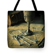 Chalice And Keys Tote Bag