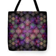 Chalice Cell Rings On Black Dk29 Tote Bag