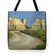 Chalk Pyramids Tote Bag