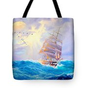 Challanging Tides Tote Bag