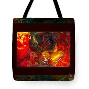 Challenges And Moments In Time Abstract Healing Art Tote Bag