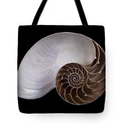 Chambered Nautilus Cross-section Tote Bag