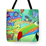 Chameleon And Toucan Tote Bag