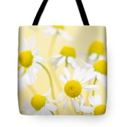 Chamomile Flowers Close Up Tote Bag