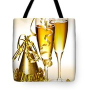 Champagne And New Years Party Decorations Tote Bag