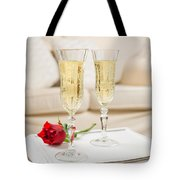 Champagne And Rose Tote Bag