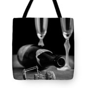 Champagne Bottle Still Life Tote Bag by Edward Fielding
