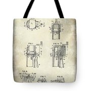 Champagne  Cork Extractor And Wire Cutter Patent Drawing Tote Bag